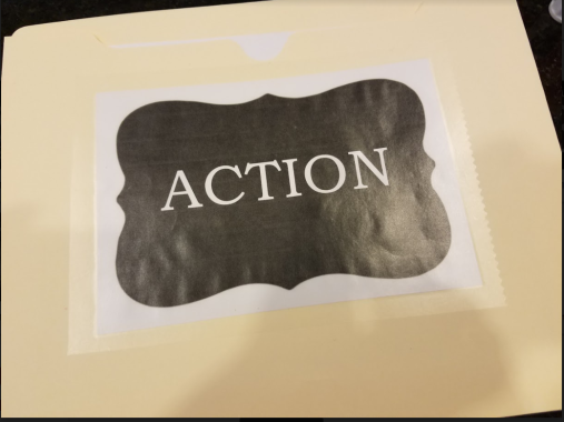 action folder ready to go